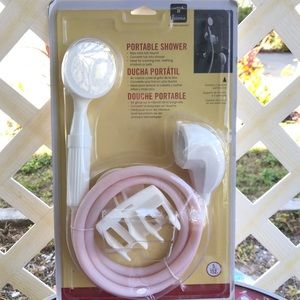 Homz Smart Solution Portable shower white and pink